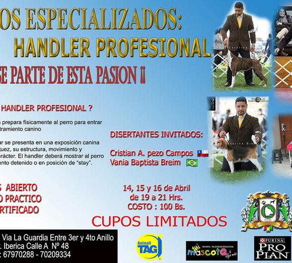 CURSO ALIANZ BOLIVIA HANDLER PROFESIONAL 2016