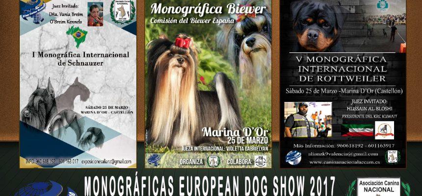 Resultados Monográficas  Biewer, Schnauzer y Rottweiler European Dog Show Marina d´Or 2017