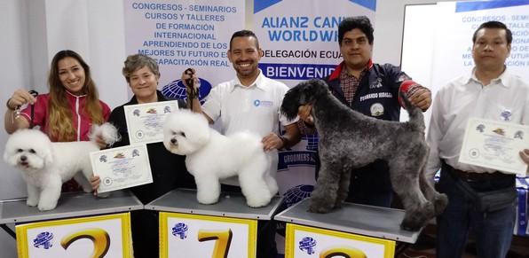 """Competencia de Peluquería Canina """"Copa Alianz Ecuador"""" 2018"""