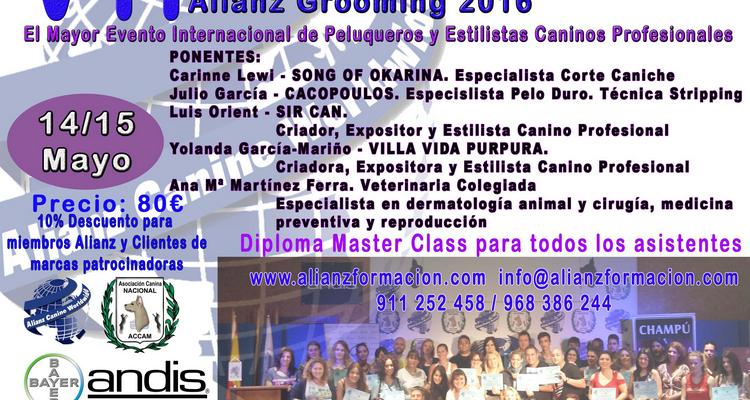 VII CONGRESO NACIONAL E INTERNACIONAL PELUQUERÍA Y ESTÉTICA CANINA ALIANZ GROOMING 2016